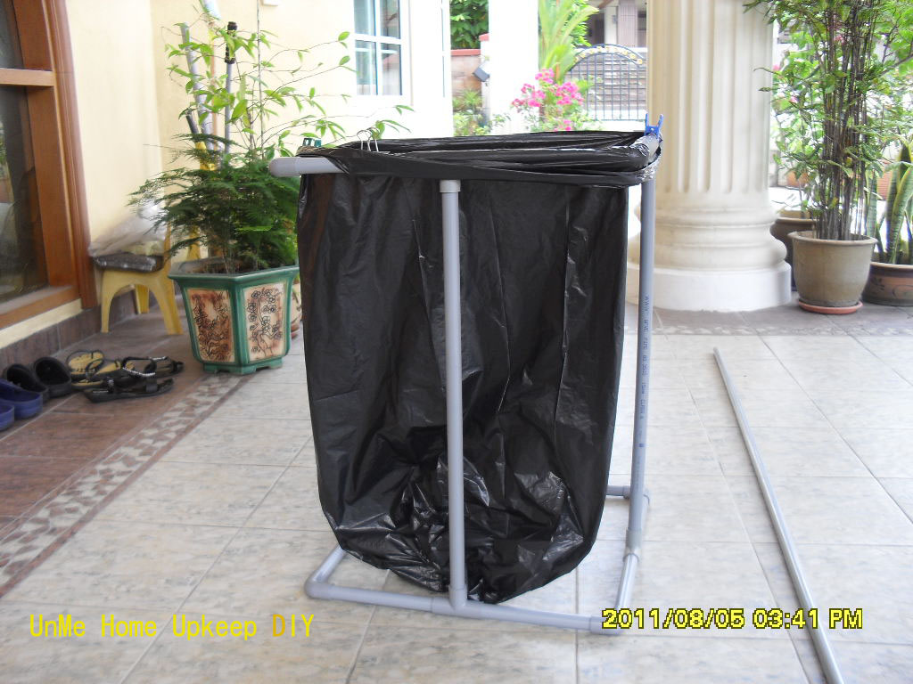 Making Your Own Garbage Bag Holder