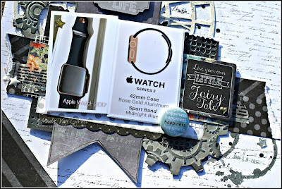 Fairy Tale Apple Watch Scrapbook Page featuring 49 Shades of Grey designed by Rhonda Van Ginkel for Quick Quotes