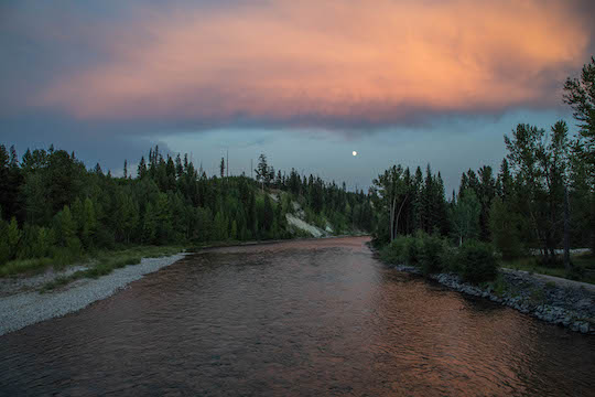Photo of the Month: Moonrise on the River