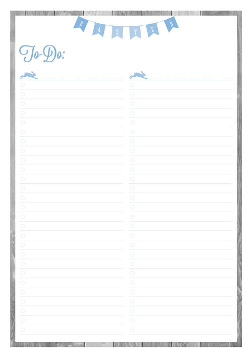 Free Printable Easter Planner To-Do