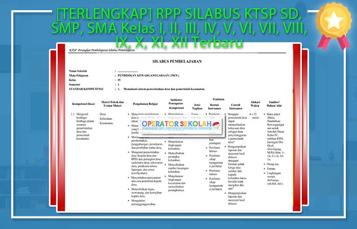 Terlengkap Rpp Silabus Ktsp Sd Smp Sma Kelas I Ii Iii Iv V Vi Vii Viii Ix X Xi