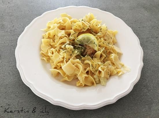 Nudeln Zirtronen Lachs Dill Parmesan Rezept