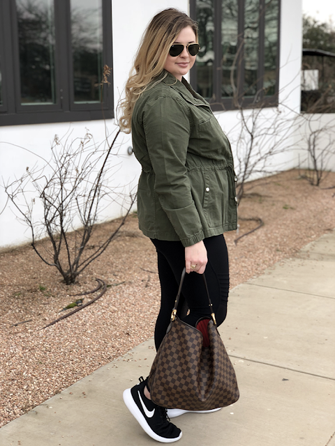 shine theory women empowerment feminist feminism old navy twill field jacket army green moto leggings twist front tee bp nordstrom louis vuitton delightful damier ebene ray ban aviator sunglasses dallas blogger