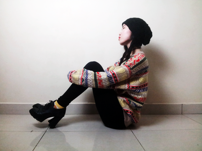 Brunei Blogger May Cho of The Mayden in a statement sweater