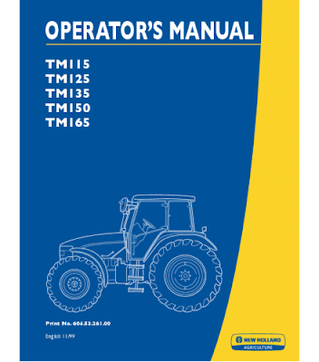 New Holland Agriculture Manual Pdf New Holland Tm115 Tm125 Tm135 Tm150 Tm165 Tractor Operator S Manual Instant Download