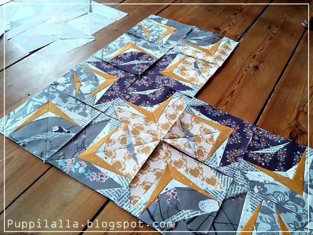 Static Interference, Puppilalla, Blog Hop, Katarina Rocella, Blithe Fabrics, Foundation Paper Piecing, Free Quilt Block, Original Design