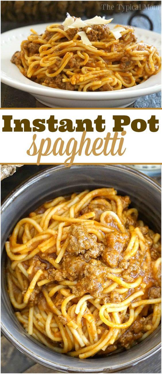 Instant Pot Spaghetti #dinner #italian #instantpot #spaghetti