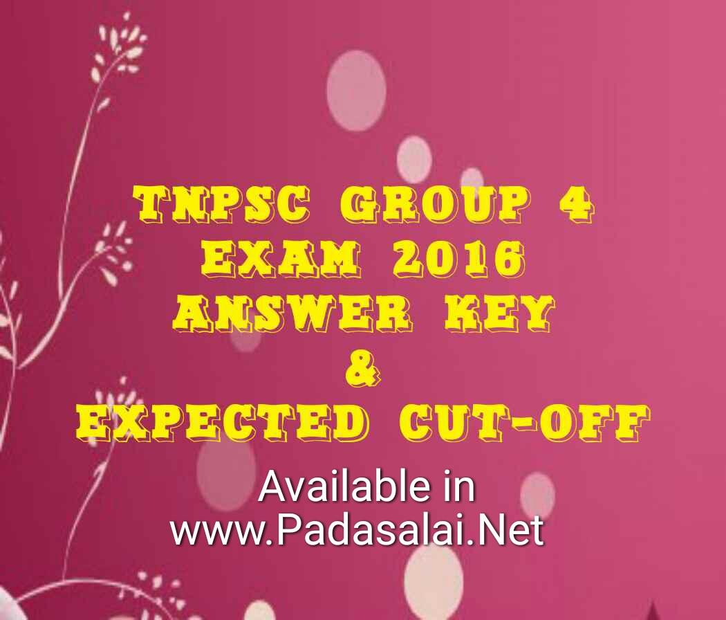 tnpsc group 4 answer key 2018 pdf download