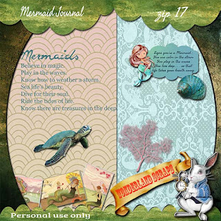 Thursday freebie of Mermaid Journal