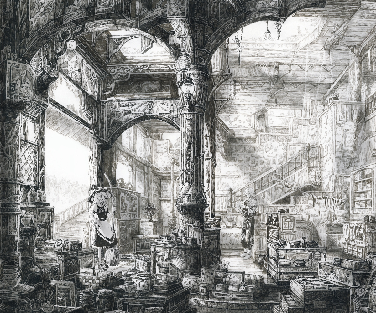 08-Loaded-Interior-Mita-Mitauzo-実-田-く-ら-Intricate-Japanese-Architectural-Drawings-www-designstack-co
