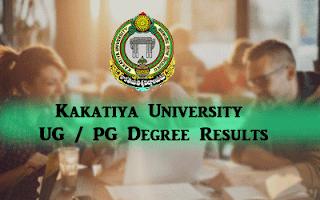 Kakatiya University Result kuresults.in 2020