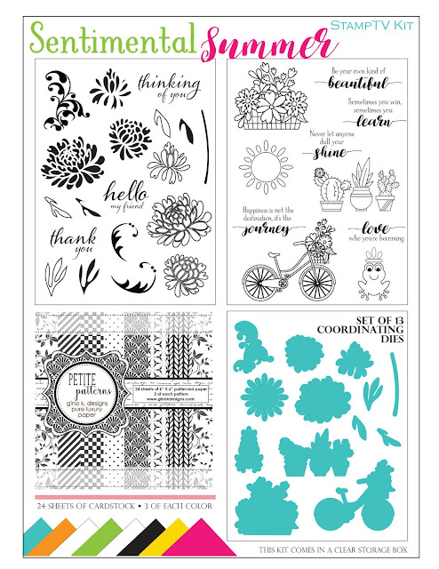 Gina K Designs Sentimental Summer Stamp TV Kit