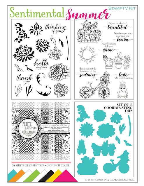 Gina K Designs Sentimental Summer Stamp TV Kit
