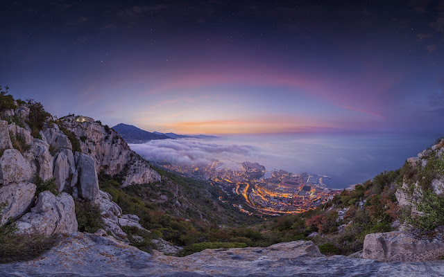 monaco summer sunrise