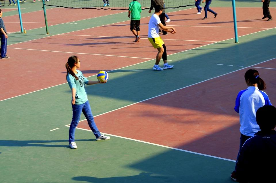 Lapangan Bola Voli di Ngawi Jawa timur