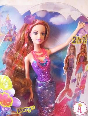 Barbie Romy из мультфильма Барби и потайная дверь: обзор игрушки русалочки Mattel