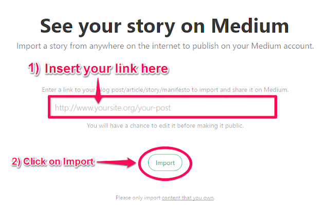 Medium Blog Post Import Form