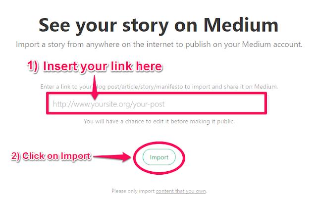 Medium Blog Post Import Form