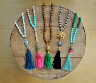 DIY Beaded Tassle Necklaces