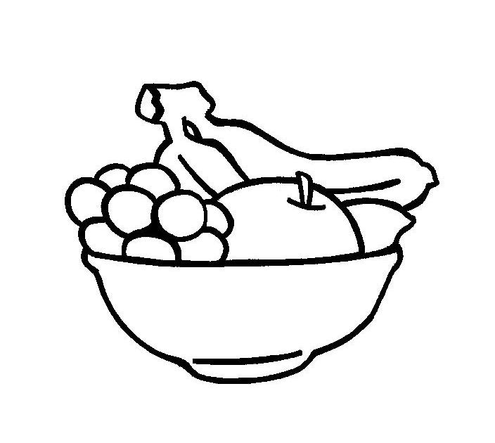 Desenho De Frutas Numa Bandeja