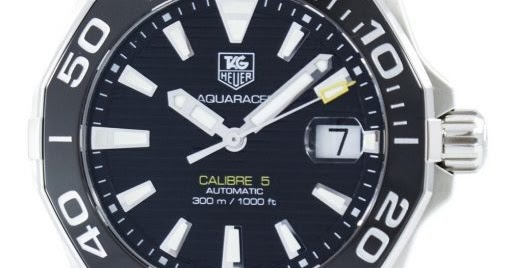 55a48d609e5 Discount Watches for Mens New Zealand: Tag Heuer Aquaracer Automatic  Calibre 5 Swiss Made 300M WAY211A.FT6068 Men's Watch : Designed For The  Waters; ...