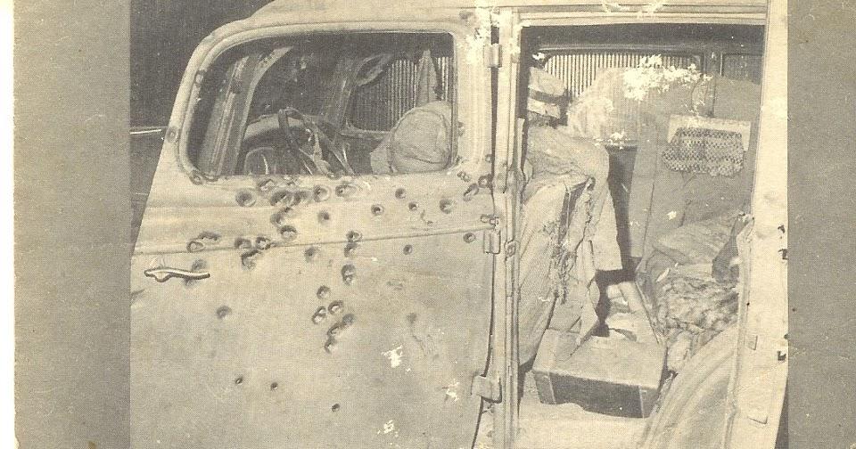 Clyde And Bonnie Car Shootout