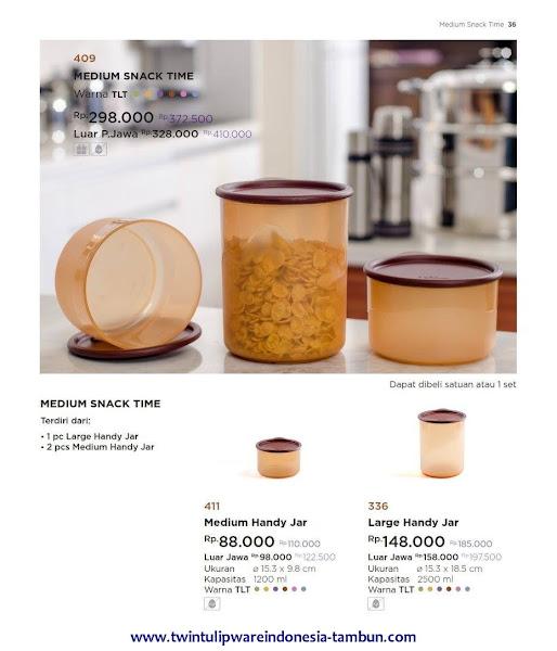 Medium Snack Time, Medium, Large Handy Jar