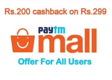 Paytm SUPER200 Offer - Get Rs.200 Cashback On Purchase of Rs. 299 or More