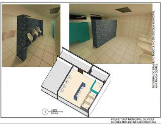 Prefeitura de Picuí inicia obra de recuperação dos banheiros da escola Ana Maria Gomes