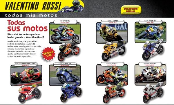 "Colección de Motos a Escala ""Todas mis motos"" Valentino Rossi"