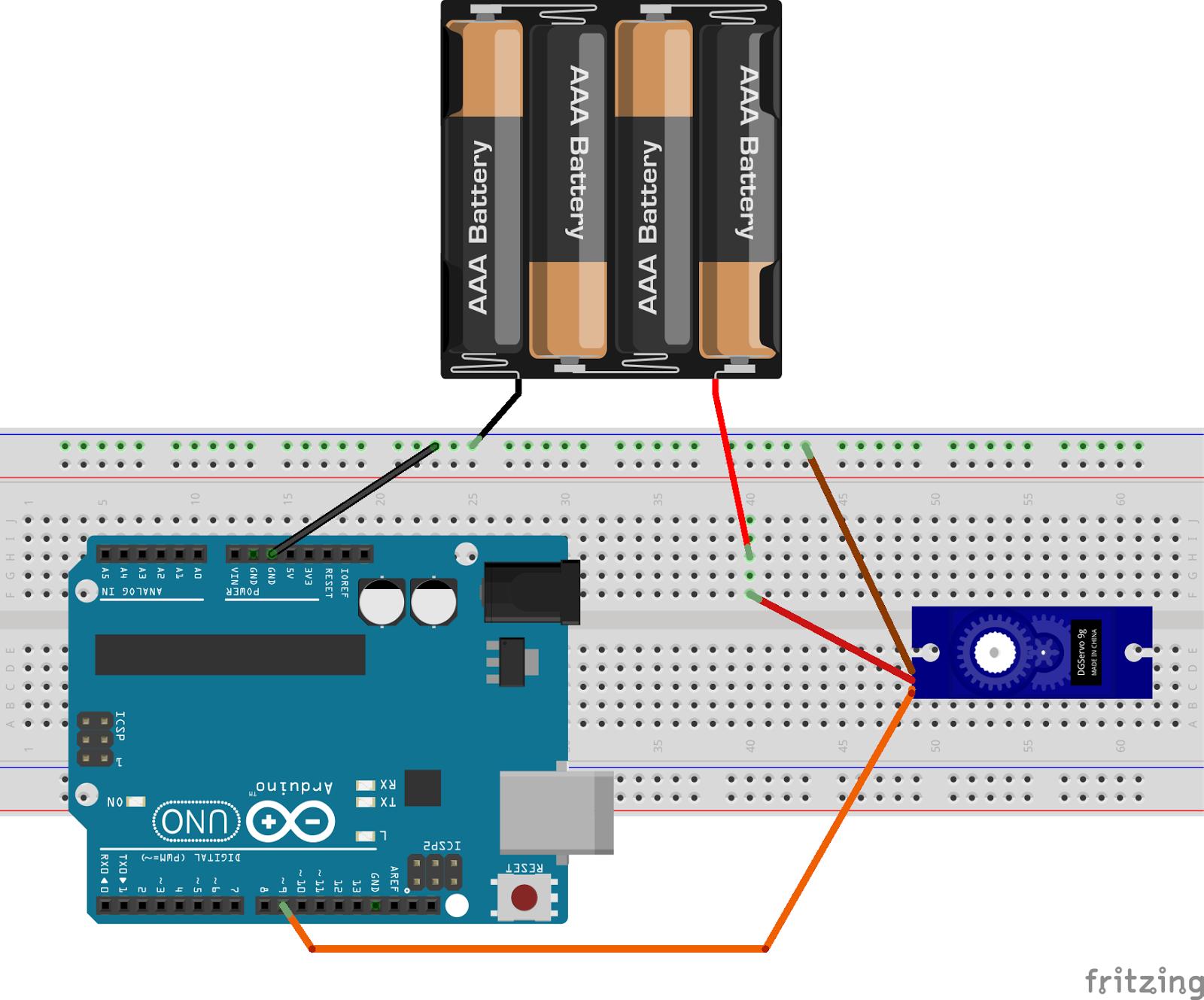 Arduino筆記(15):控制伺服馬達 Servo