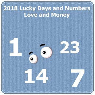 2018 Lucky Days and Numbers in Love and Money