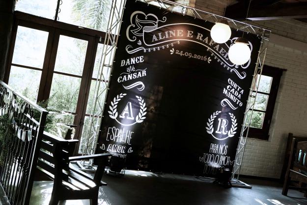 Casamento Rústico Campinas - Backdrop Chalkboard