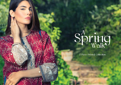 Alkaram Spring Printed Lawn Dress Designs 2017 Collection