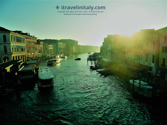 "The Sunset in Venice on the Grand Canal. Copyright ""All rights reserved"" © By itravelinitaly.com Baldassarri Giuseppe Visual Storytelling"