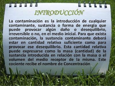 introducción Contaminación Ambiental