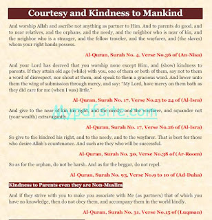 Courtesy and Kindness to Mankind