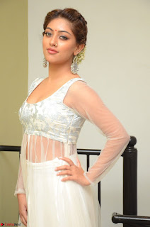 Anu Emmanuel in a Transparent White Choli Cream Ghagra Stunning Pics 108.JPG