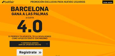 betfair Barcelona gana Las Palmas supercuota 4 Liga 20 febrero