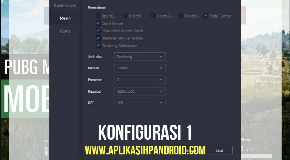 Cara Konfigurasi Game PUBG Mobile via PC pada Emulator 2