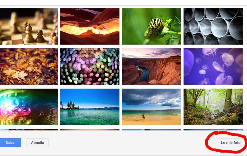inserire foto sfondo gmail