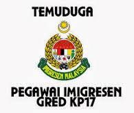 Temuduga Fizikal Jabatan Imiogresen Malaysia KP17