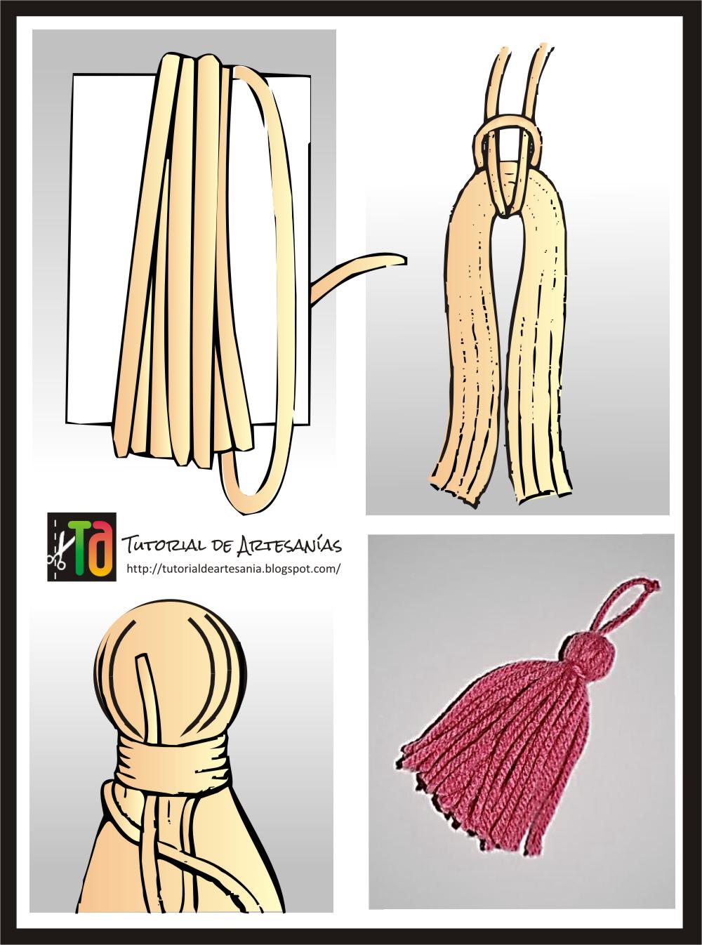 Tutorial de artesan as c mo hacer borlas - Como hacer unas cortinas paso a paso ...