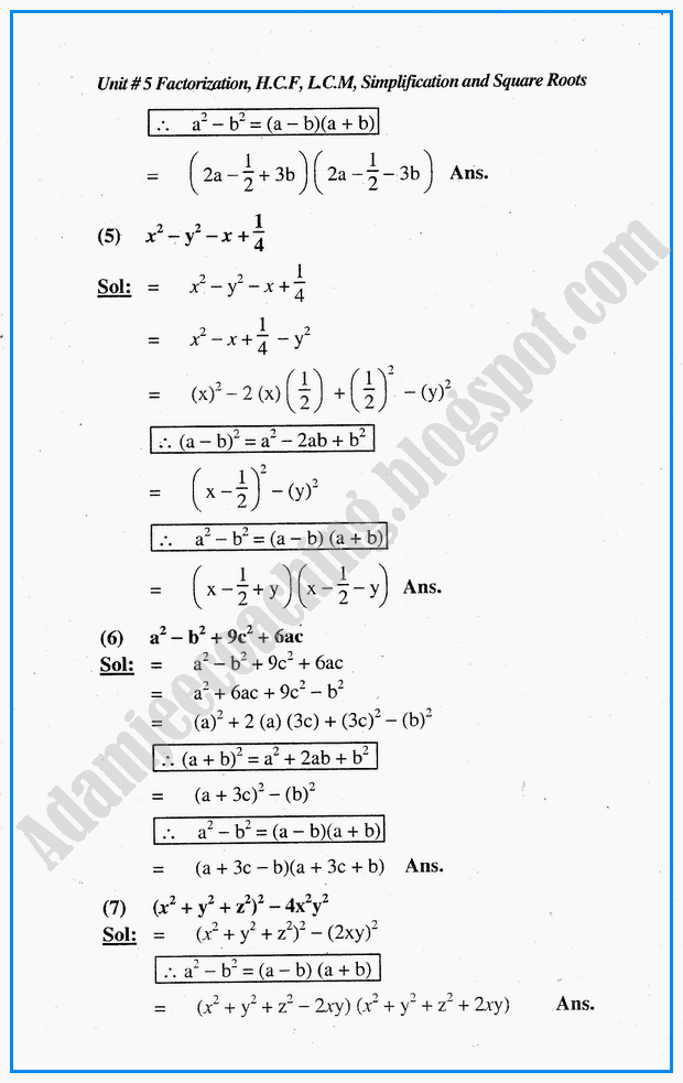2nd Year Maths Notes Sindh Board Pdf