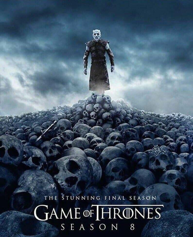 Best Game Of Thrones Season 8 Poster Skulls Image Collection