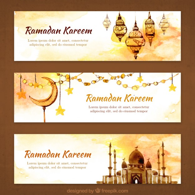 Download Banner/Spanduk Ramadhan Watercolor