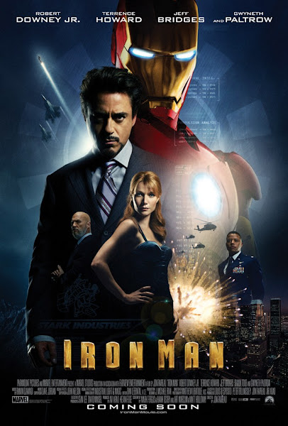 Poster of Iron Man (2008) Dual Audio 1080p BluRay ESubs Download