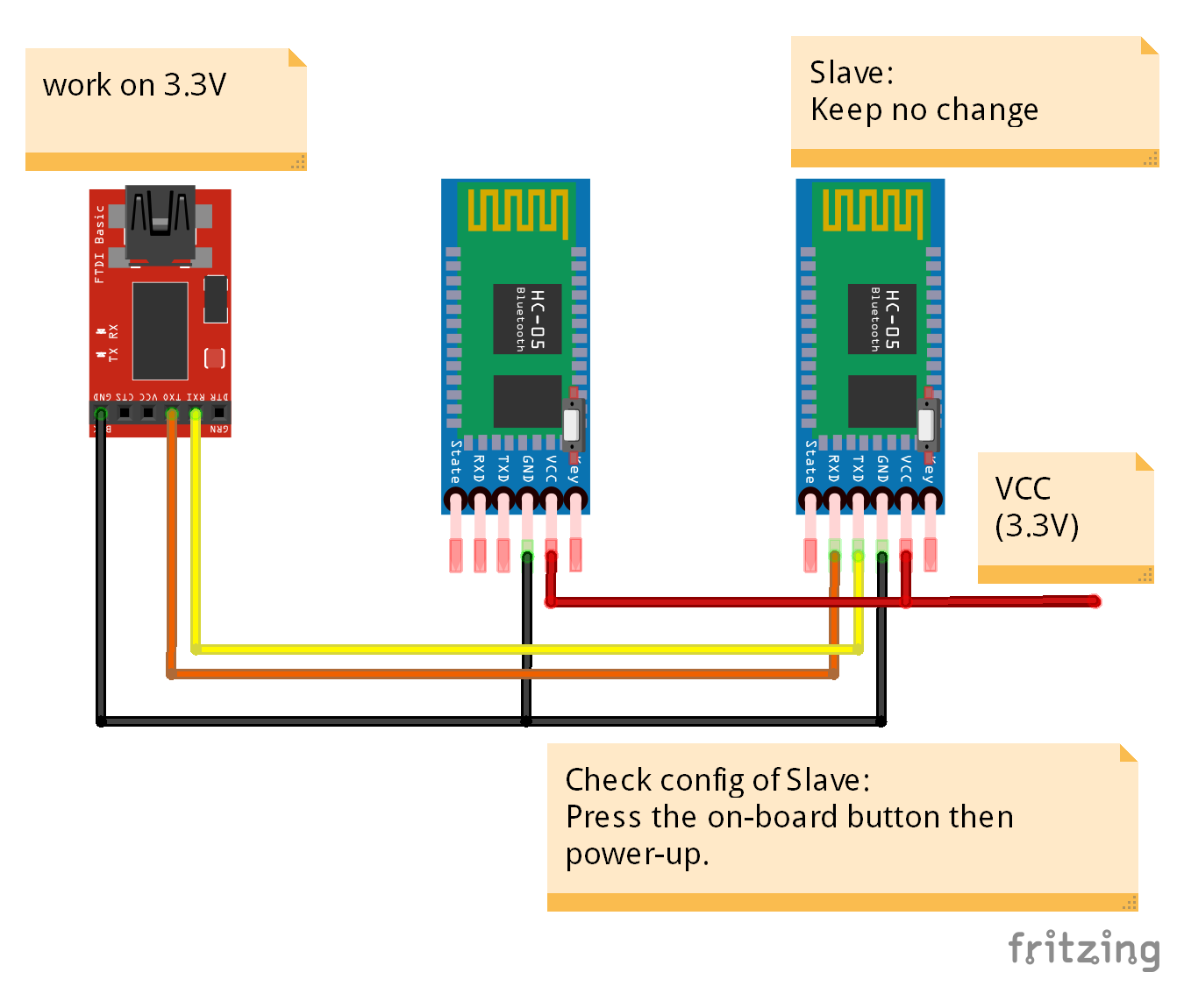 Arduino-er: Config HC-05(s) as paired Master and Slave