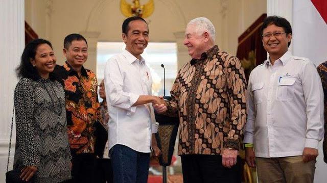 jokowi, indonesia, freeport, saham
