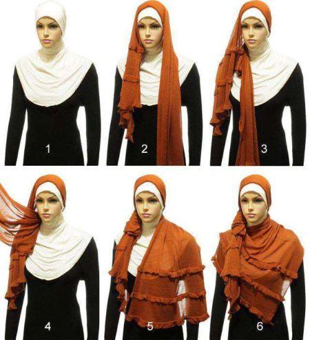 Cara memakai jilbab pashmina kreasi terbaru